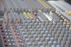 Sound mixer control panel Stock Image