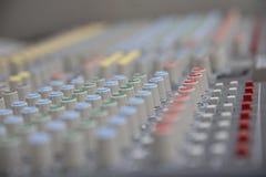 Sound mixer control panel Stock Photos