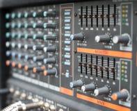 Sound mixer control panel Royalty Free Stock Photo
