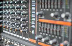 Sound mixer control panel Royalty Free Stock Images