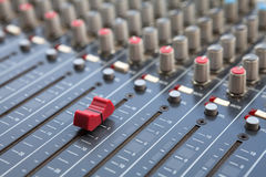 Sound mixer control panel Royalty Free Stock Photo