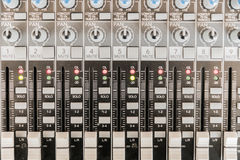 Sound mixer control panel. Sound controller Recording Studio. Stock Photos