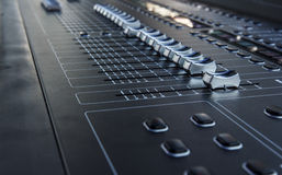 Sound mixer control Stock Image