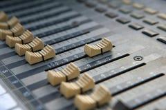 Sound mixer controller. Royalty Free Stock Photos