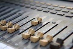 Sound mixer controller. Royalty Free Stock Photo