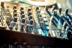 Sound mixer controller Stock Photo