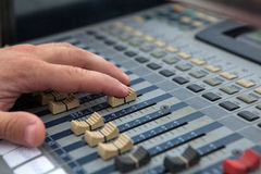 Sound mixer controller. Royalty Free Stock Images