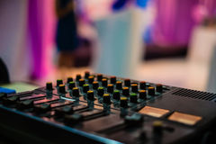 Sound mixer controller Royalty Free Stock Images