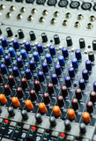 Sound mixer detail Royalty Free Stock Images