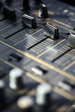 Sound mixer details Royalty Free Stock Image