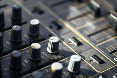 Sound mixer details Royalty Free Stock Images