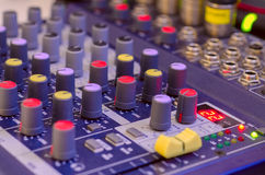 Sound Mixer. Digital sound mixer (close up Royalty Free Stock Photos