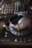 Sound mixer of DJ turntable Royalty Free Stock Photos