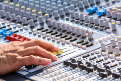 Sound mixer. Royalty Free Stock Image