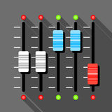 Sound mixer icon, flat style Stock Images