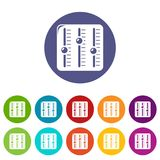 Sound mixer icons set vector color. Sound mixer icons color set vector for any web design on white background Royalty Free Stock Images