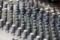 Sound mixer, low angle shot with shallow DOF, useful for various Stock Photos