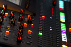 Sound mixer panel in concert Stock Image