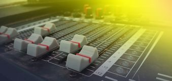 Sound mixer in party royalty free stock photo