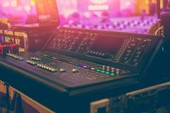 Sound Mixer Professional Sound Engineer royalty free stock photos