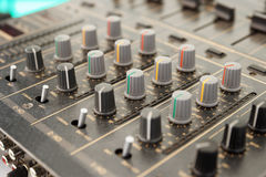 Sound mixer, selective focus Royalty Free Stock Image