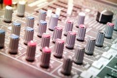 Sound mixer in studio Stock Images