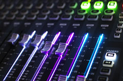 Sound Mixer System with Light Stock Image