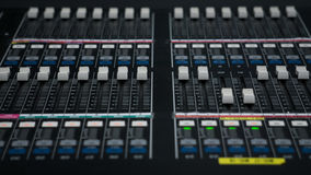 Sound Mixer in Tv Control Room Royalty Free Stock Photos