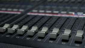 Sound Mixer in Tv Control Room stock photography