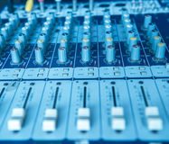 Sound mixer useful for music and sound themes Stock Photos