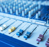 Sound mixer useful for music and sound themes Royalty Free Stock Photos