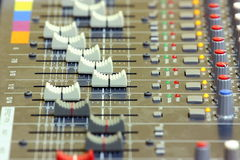 Sound mixing Royalty Free Stock Photo