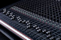 Sound Mixing Board. Sound Mixing Console Board royalty free stock photos