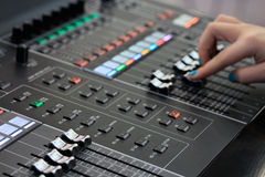 Sound mixing board Royalty Free Stock Photography