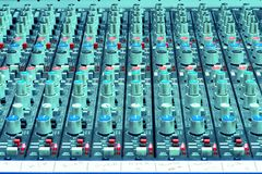 Sound Mixing Console Royalty Free Stock Images