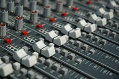 Sound mixing console Royalty Free Stock Photo