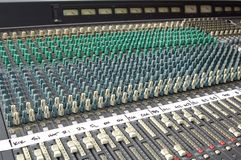 Sound Mixing Console. A large sound mixing console Royalty Free Stock Photography