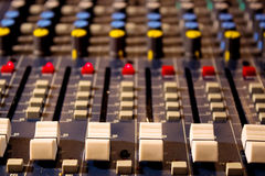 Sound mixing console Stock Photo