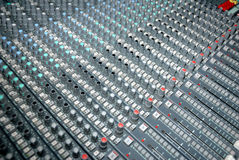 Sound mixing console Stock Images