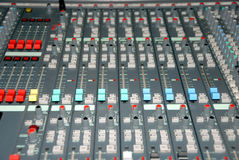 Sound mixing console Royalty Free Stock Photography