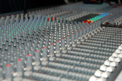 Sound mixing console Stock Photos