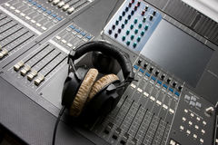 Sound mixing console. Royalty Free Stock Photography