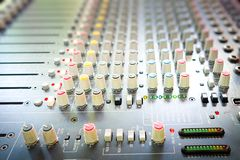 Sound mixing console. Or Sound mixer controller Stock Image
