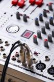 Sound mixing control. Royalty Free Stock Photos