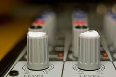 Sound mixing controls Royalty Free Stock Image