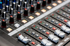 Sound mixing desk Royalty Free Stock Image