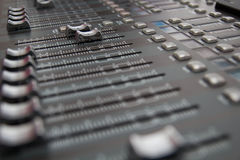 Sound Mixing Desk Stock Photos