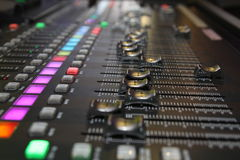 Sound Mixing Desk. Sound mixing so that the sound is a melodic, fun and inspiring Stock Photography