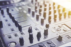 Sound Mixing. DJ Sound Mixing panel in studio Stock Images