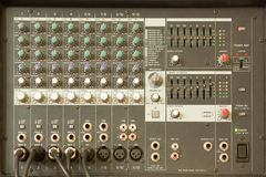 Sound mixing equipment Royalty Free Stock Photography